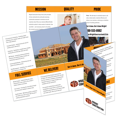 Four color sell sheets templates colorworx for Campaign literature templates